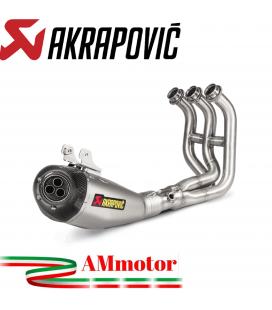 Akrapovic Yamaha Xsr 900 Impianto Di Scarico Completo Racing Line Terminale Titanio Moto