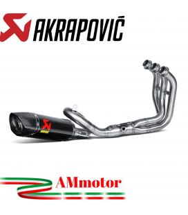 Akrapovic Yamaha Xsr 900 Impianto Di Scarico Completo Racing Line Terminale Carbonio Moto