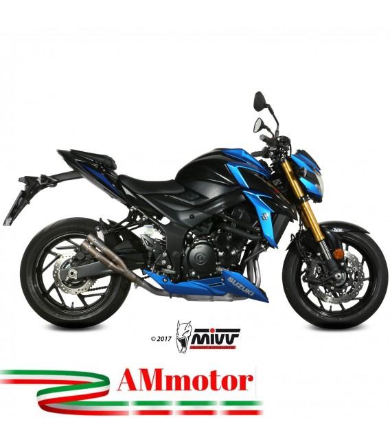 Mivv Suzuki Gsx-S 750 Terminale Di Scarico Marmitta Double Gun Titanio Moto