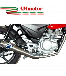 Impianto Di Scarico Completo Termignoni Honda Cbf 125 Marmitta Conica Inox Moto Omologato