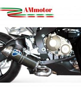 Terminale Di Scarico Termignoni Honda Cbr 1000 RR Marmitta Ovale Inox Carbonio Moto Omologato