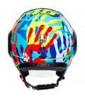 Casco Agv Orbyt Top Sun&moon Black Parrot Jet Valentino Rossi Doppia Visiera