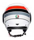 Casco Agv Orbyt Brera White Grey Red Doppia Visiera