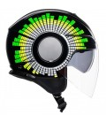Casco Agv Orbyt Ginza Black Yellow Green Doppia Visiera