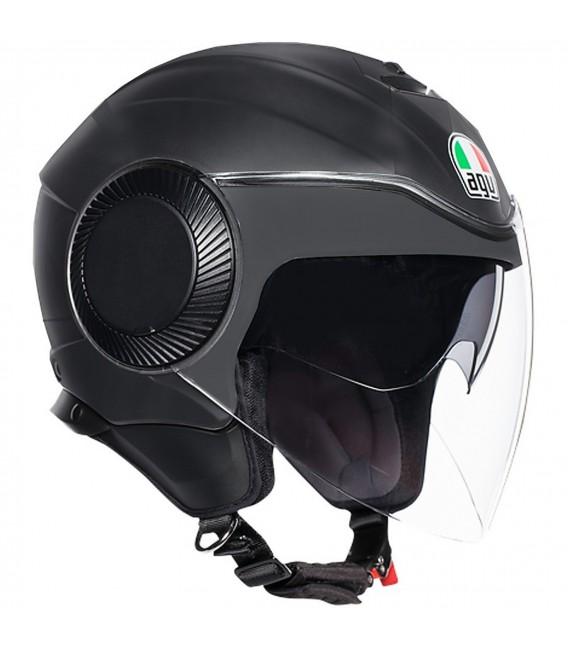Casco Agv Orbyt Matt Black Jet Doppia Visiera Moto