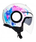 Casco Agv Orbyt Mayfair White Purple Doppia Visiera Moto
