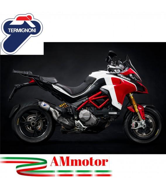Terminale Di Scarico Termignoni D193 Ducati Multistrada 1260 Silenziatore Pikes Peak Edition Titanio Moto Omologato