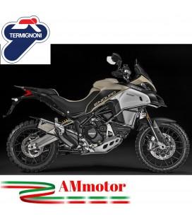 Terminale Di Scarico Termignoni Ducati Multistrada 1200 Enduro Silenziatore In Titanio Moto Omologato