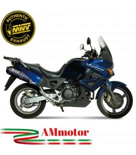 Mivv Honda Xl 1000 Varadero Terminale Di Scarico Marmitta Ovale Carbonio Cap Moto