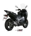 Mivv Honda Integra 750 Terminale Di Scarico Marmitta Suono Inox Moto Omologato Scooter
