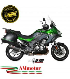 Mivv Kawasaki Versys 1000 Terminale Di Scarico Moto Marmitta Ovale Carbon Cap Omologato