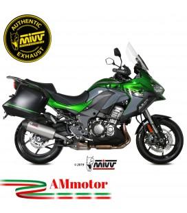 Mivv Kawasaki Versys 1000 Terminale Di Scarico Moto Marmitta Ovale Titanio Carbon Cap Omologato