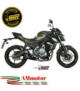 Scarico Completo Mivv Kawasaki Z 650 Terminale Delta Race Black Moto
