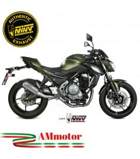 Scarico Completo Mivv Kawasaki Z 650 Terminale Mk3 Inox Moto