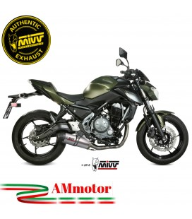 Scarico Completo Mivv Kawasaki Z 650 Terminale Ovale Titanio Carbon Cap Moto