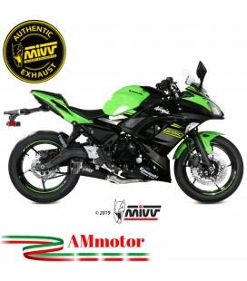 Scarico Completo Mivv Kawasaki Ninja 650 Terminale Delta Race Black Moto