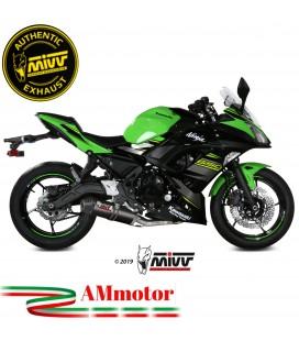 Scarico Completo Mivv Kawasaki Ninja 650 Terminale Ovale Carbon Cap Moto