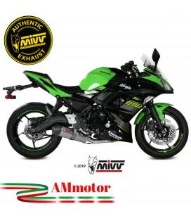 Scarico Completo Mivv Kawasaki Ninja 650 Terminale Ovale Titanio Carbon Cap Moto