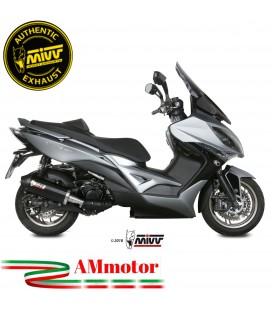 Mivv Kymco XCiting 400 Terminale Di Scarico Moto Marmitta Oval Black Carbon Cap