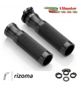 Manopole rizoma Bmw R Nine T / Scrambler Moto Sport Coppia Nero Alluminio Gomma