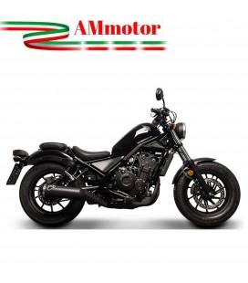 Terminale Di Scarico Termignoni Honda Rebel Marmitta Acciaio Nero Moto Omologato
