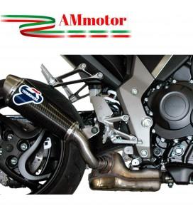 Terminale Di Scarico Termignoni Honda Cb 1000 R Marmitta Ovale Inox Carbonio Moto Omologato