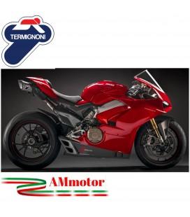 Impianto Di Scarico Completo Racing Termignoni 4 Uscite Ducati Panigale V4 Moto Titanio