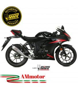 Scarico Completo Mivv Suzuki Gsx-R 125 Moto Terminale Delta Race Inox