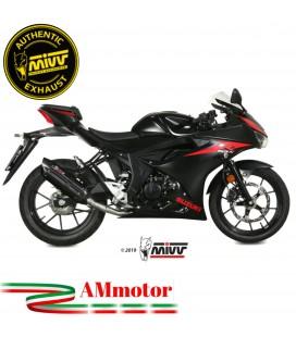 Scarico Completo Mivv Suzuki Gsx-R 125 Moto Terminale Suono Black