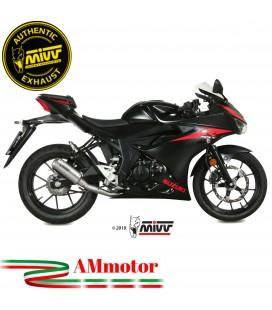 Scarico Completo Mivv Suzuki Gsx-R 125 Moto Terminale Mk3 Inox