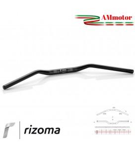 Manubrio Rizoma Moto Conico Alluminio Ergal Anodizzato Nero Sezione Variabile