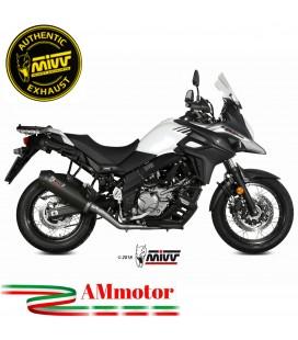 Mivv Suzuki Dl V-Strom 650 Terminale Di Scarico Moto Marmitta Oval Carbon Cap