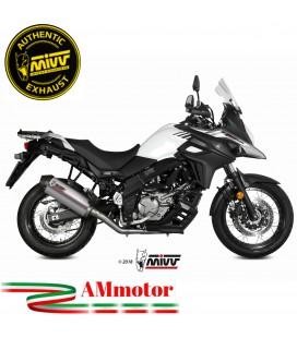 Mivv Suzuki Dl V-Strom 650 Terminale Di Scarico Moto Marmitta Oval Titanio Carbon Cap