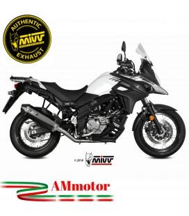 Mivv Suzuki Dl V-Strom 650 Terminale Di Scarico Moto Marmitta Speed Edge Black