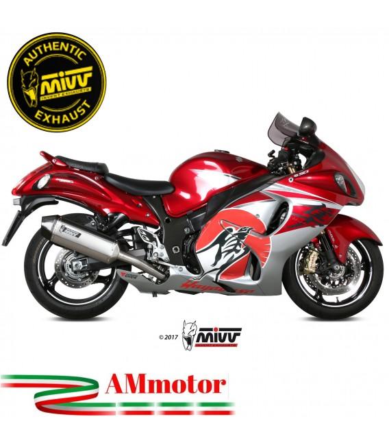 Mivv Suzuki Gsx-R 1300 Hayabusa Terminali Di Scarico Moto Marmitte Speed Edge Inox Omologato
