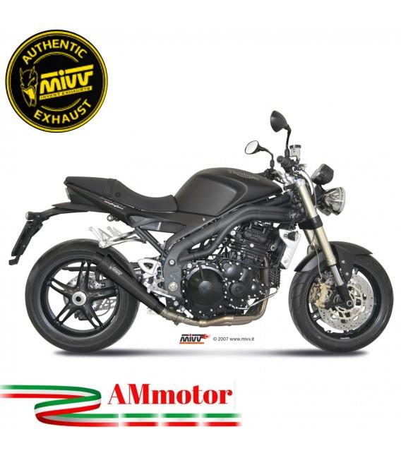Mivv Triumph Speed Triple 1050 Terminale Di Scarico Moto Marmitta X-Cone Black Omologato