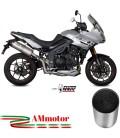 Mivv Triumph Tiger 1050 Sport Terminale Di Scarico Moto Marmitta Oval Titanio Carbon Cap