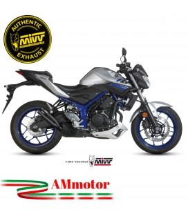 Mivv Yamaha Mt-03 Terminale Di Scarico Moto Marmitta Double Gun Black Omologato