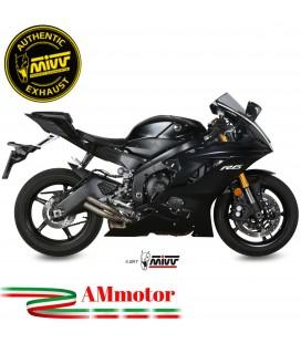 Mivv Yamaha Yzf 600 R6 Terminale Di Scarico Moto Marmitta Double Gun Titanio Omologato