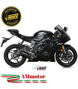 Mivv Yamaha Yzf 600 R6 Terminale Di Scarico Moto Marmitta Suono Black Omologato