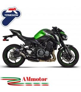 Termignoni Kawasaki Z 900 Terminale Di Scarico Moto Marmitta Gp Style Carbonio