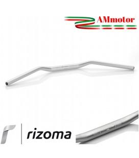 Manubrio Rizoma Moto Conico Alluminio Ergal Anodizzato Argento Sezione Variabile