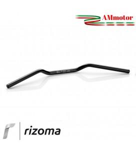 Manubrio Rizoma Moto 22 mm Alluminio Ergal Anodizzato Nero Sezione Variabile