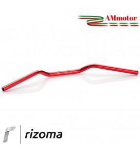 Manubrio Rizoma Moto 22 mm Alluminio Ergal Anodizzato Rosso Sezione Variabile