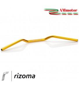 Manubrio Rizoma Moto 22 mm Alluminio Ergal Anodizzato Oro Sezione Variabile