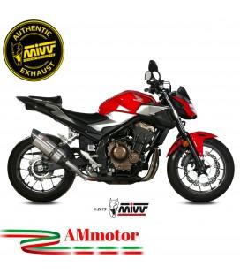 Mivv Honda Cb 500 F Terminale Di Scarico Moto Marmitta Suono Inox Omologato