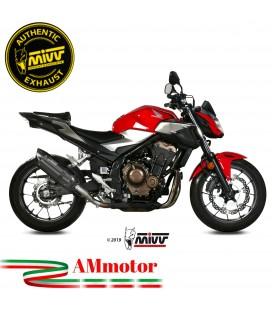 Mivv Honda Cb 500 F Terminale Di Scarico Moto Marmitta Suono Black Omologato