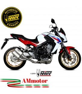 Scarico Completo Mivv Honda CB 650 F Moto Terminali Mk3 Inox