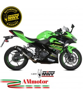 Mivv Kawasaki Ninja 400 Terminale Di Scarico Moto Marmitta Mk3 Carbonio