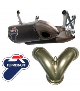 Terminali Di Scarico Racing E Adattatore D155Y Termignoni Ducati Panigale 1199 Silenziatori Titanio Cunb Carbonio